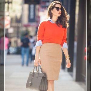 Escada Wool blend Camel Pencil Skirt